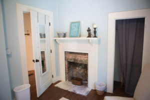 Fireplace at The Wheeler Cottages