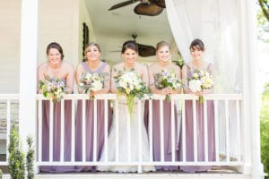 Bridal party on porch at The Wheeler House