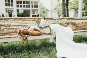 Bride At Barn Wedding Venue