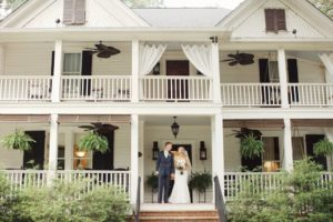 Bride and groom at The Wheeler House