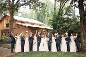Bridal party in front of The Wheeler House