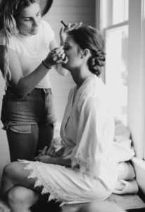 Bride Getting Ready At Wheeler Cottages